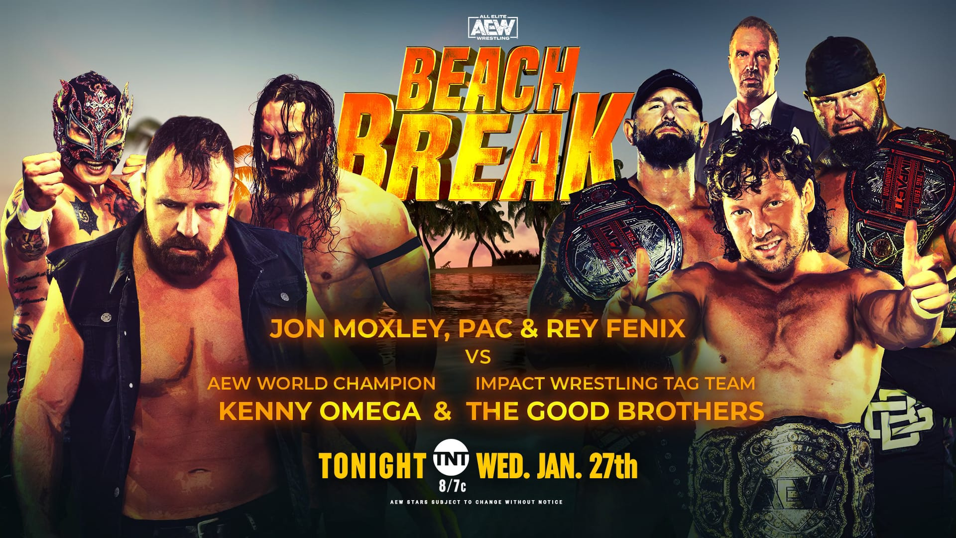 AEW Dynamite Beach Break Results: Kenny Omega & The Good Brothers Vs. Moxley, PAC, & Fenix