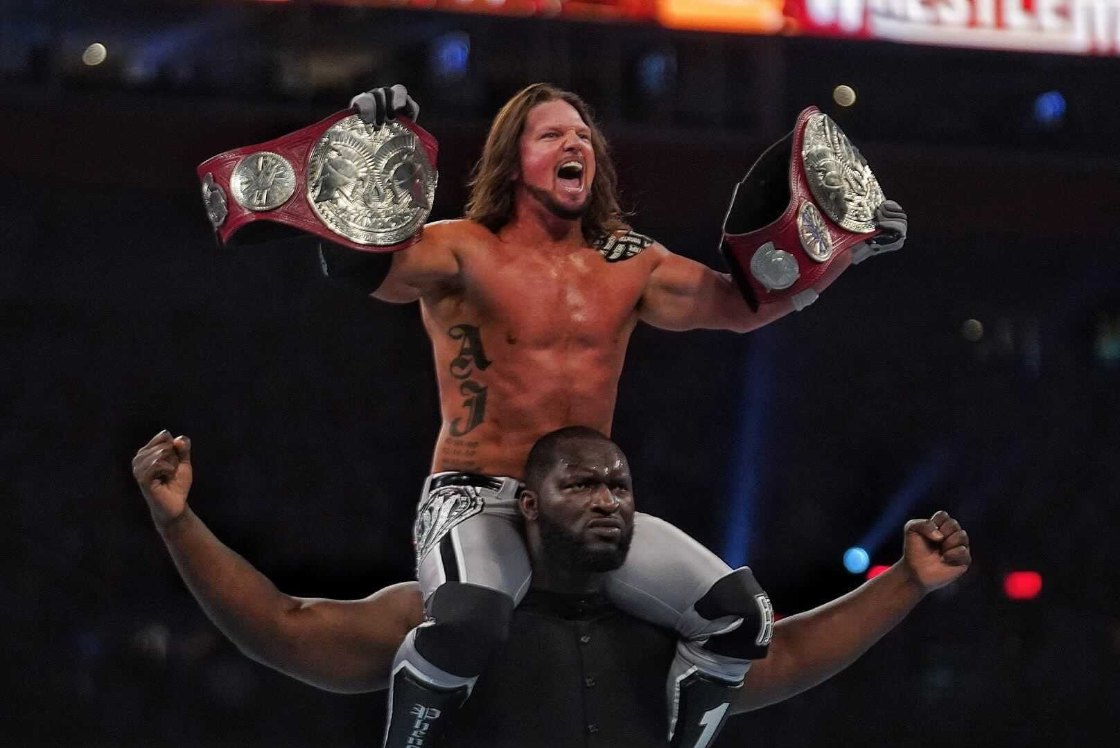 AJ Styles Names The Match He Sees For Himself And Omos At WWE SummerSlam