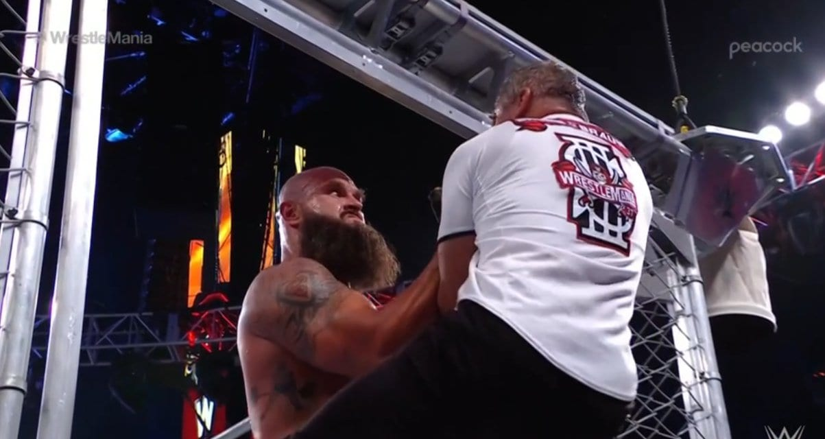 WrestleMania 37 Night One: Braun Strowman Vs. Shane McMahon (Steel Cage Match)