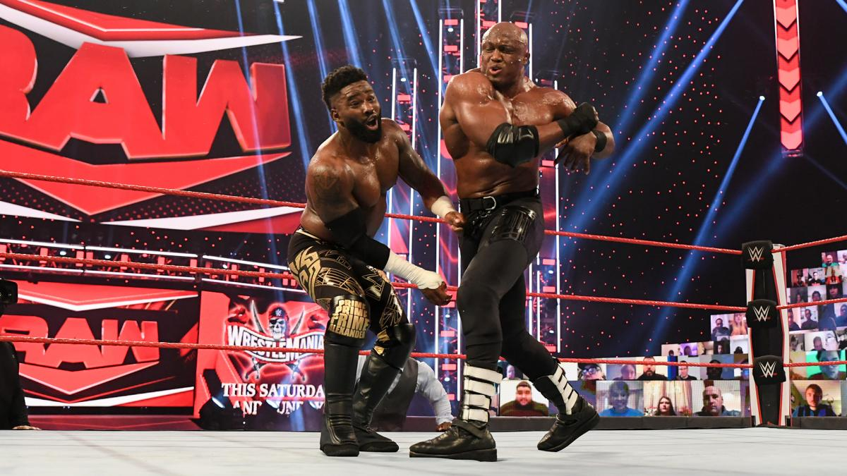 WWE Monday Night RAW Results – WrestleMania 37 Go-Home Show, 2-On-1 Handicap Match, More