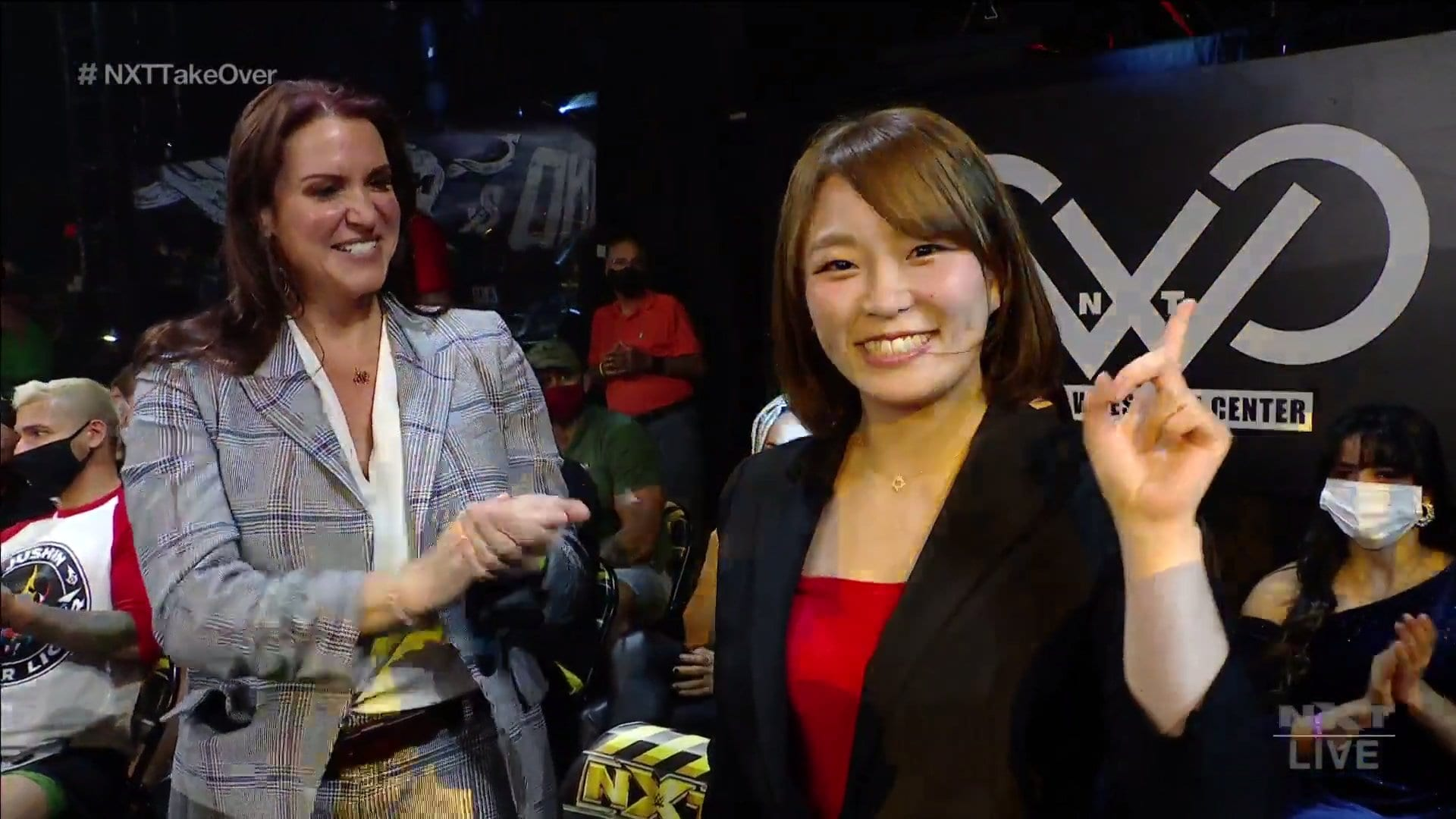"""Sarray Appears At WWE NXT """"Takeover: Stand And Deliver"""" Night One With Stephanie McMahon"""
