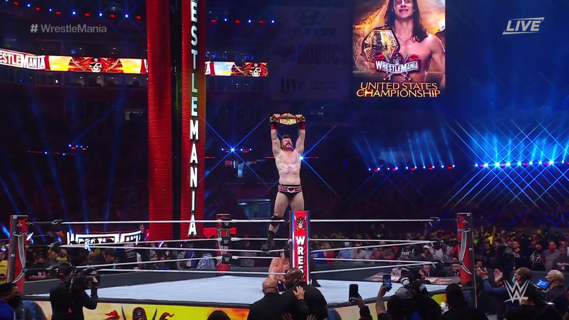 New WWE United States Champion Crowned At WrestleMania 37