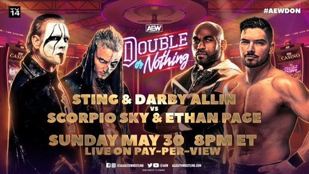 Sting's First AEW In-Ring Match And More Announced For Double Or Nothing
