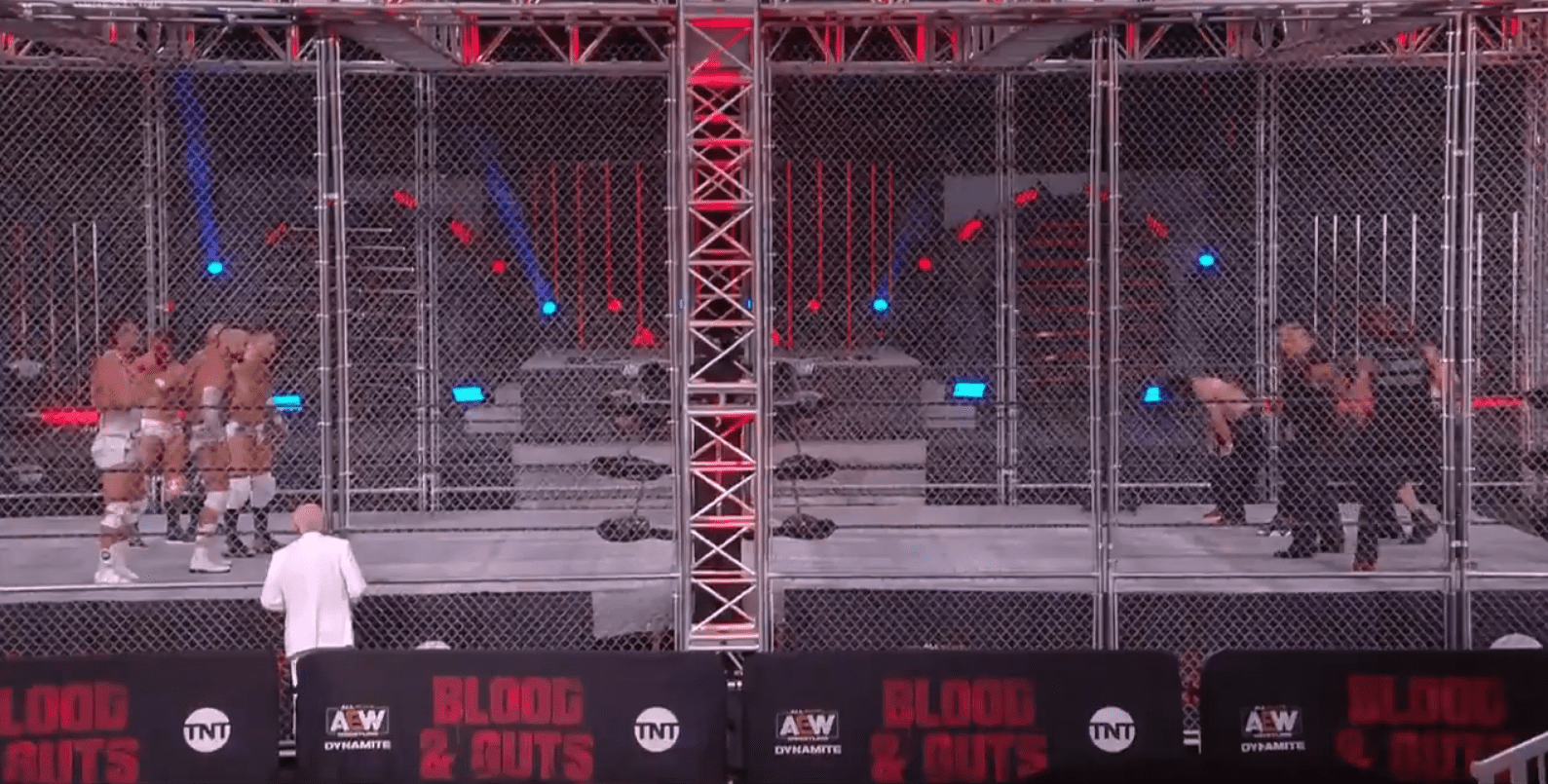"Chris Jericho Falls Off Cage, Inner Circle Defeat The Pinnacle At ""AEW Blood And Guts"""