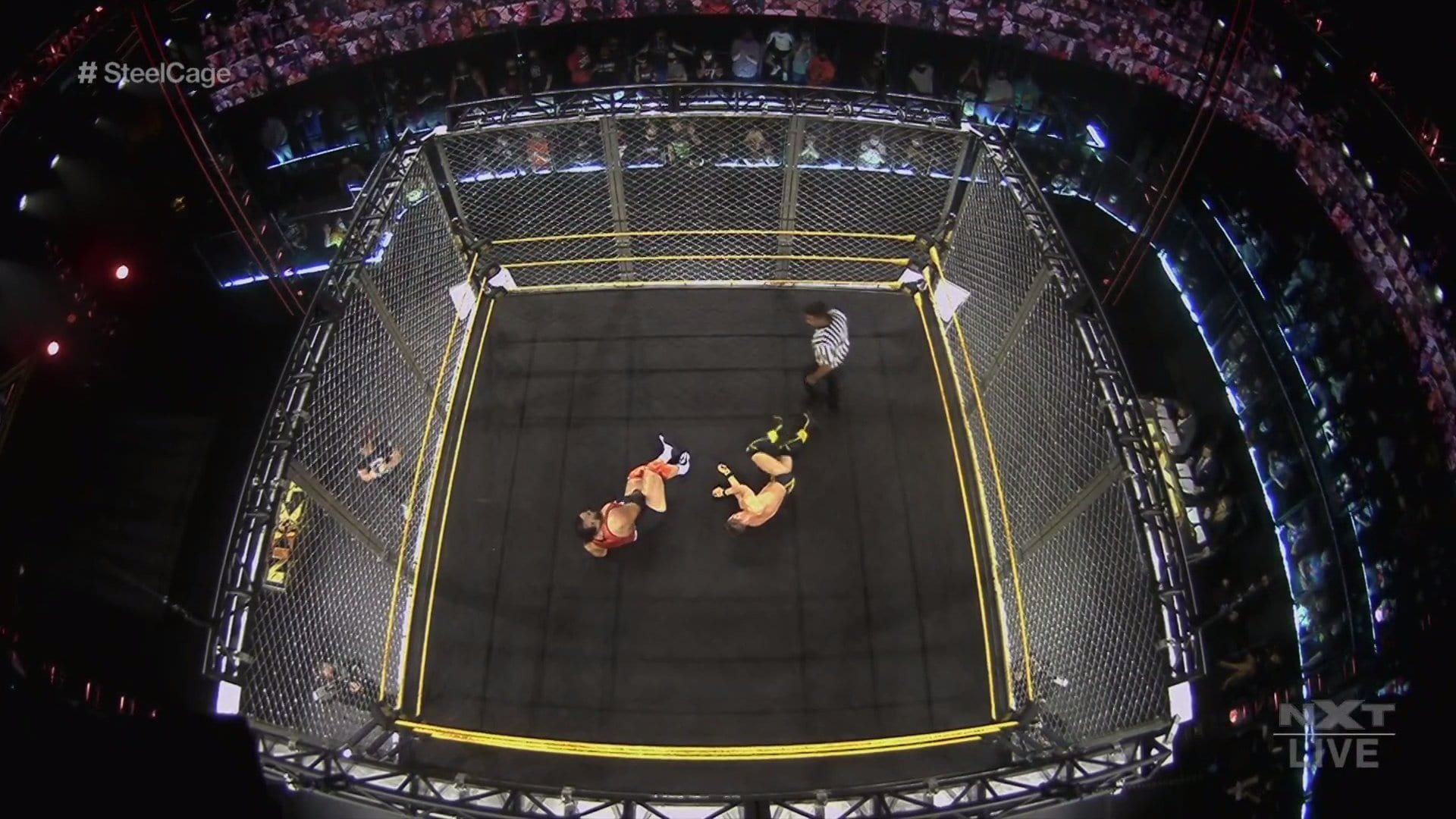 WWE NXT Results – Steel Cage Main Event, Ted DiBiase Sr. Appears, Hit Row, More