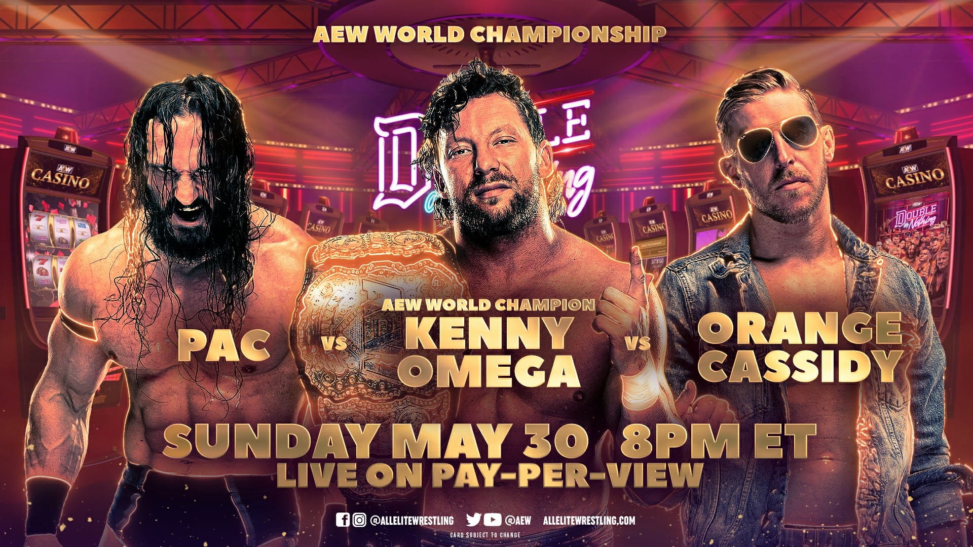 Big Title Match And Casino Battle Royale Set For AEW Double Or Nothing