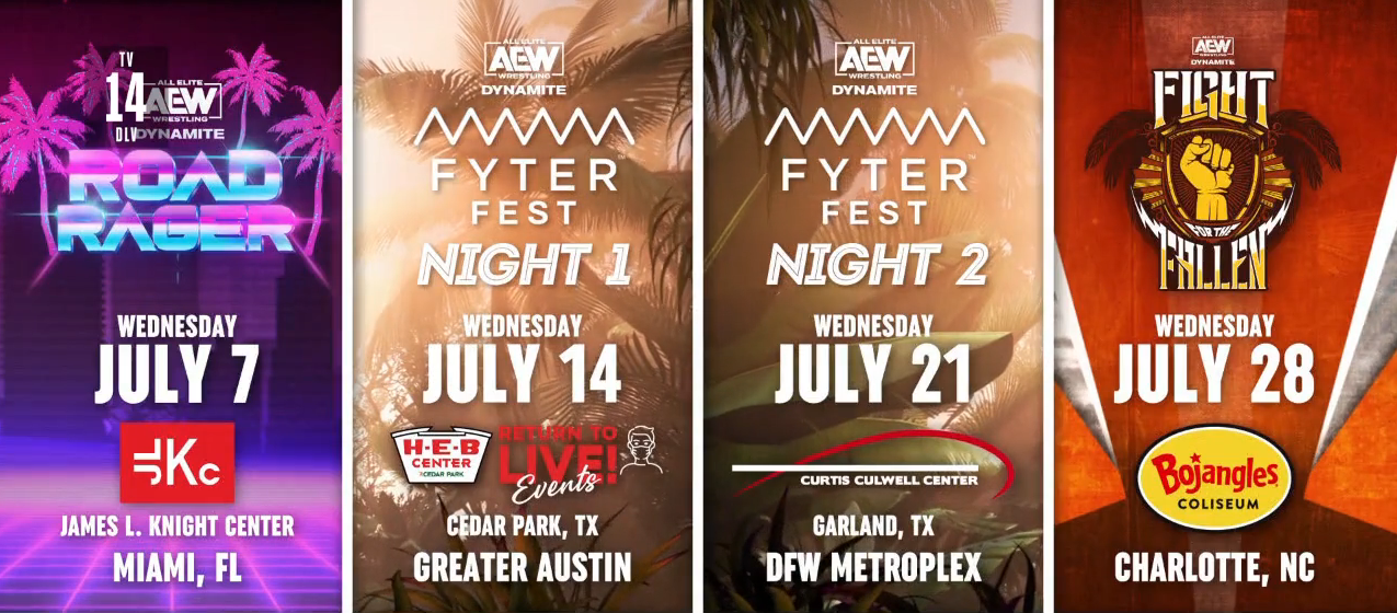 AEW Announces Upcoming Dynamite Shows, Strap Match Announced
