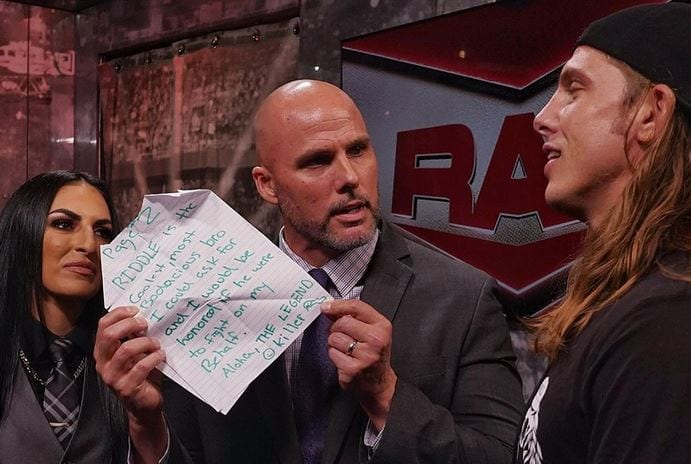 """Read Riddle's Letter """"From"""" Randy Orton, Riddle Channels His Inner-RKO On RAW"""