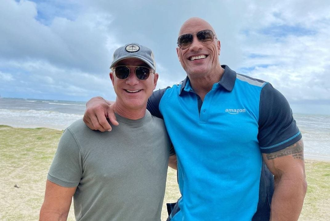 The Rock Links Up With Jeff Bezos, Seven Bucks And Amazon Working On New Project