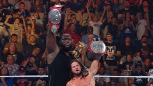 WWE Money In The Bank: The Viking Raiders Vs. AJ Styles And Omos (RAW Tag Team Titles)
