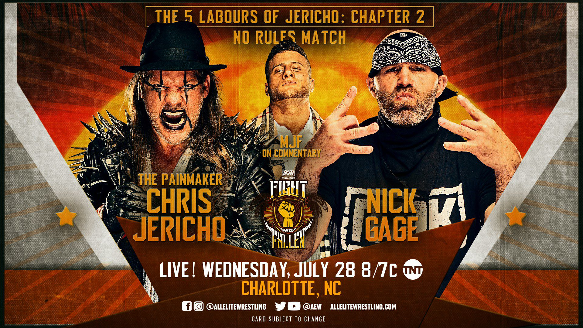AEW Dynamite Fight For The Fallen Results: Chris Jericho Vs. Nick Gage