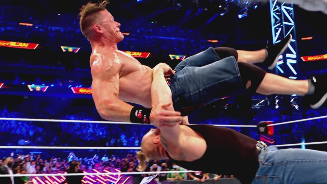 WWE Releases Footage Of Brock Lesnar Attacking John Cena After SummerSlam