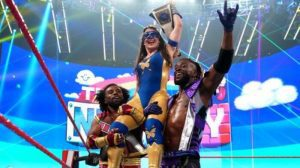 The New Day Celebrates With Nikki A.S.H., Wins RAW Dark Main Event