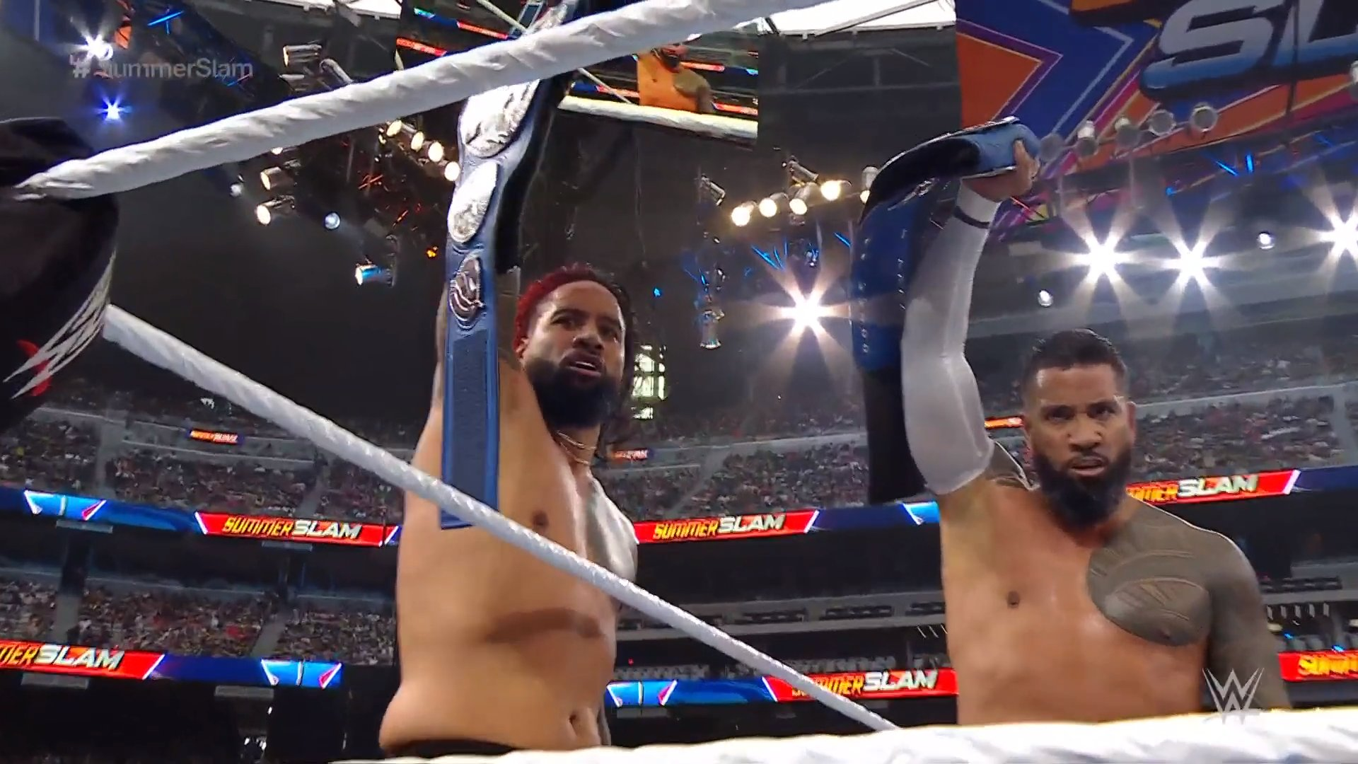 WWE SummerSlam: The Mysterios vs. The Usos (SmackDown Tag Team Titles  Match) - Wrestling Inc.