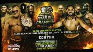 MLW War Chamber Main Event Changes, New & Updated Card